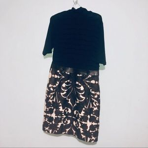 Tracy Reese black and brown multi dress size 10